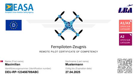 Luftfahrt Bundesamt - Homepage - EU-Fernpiloten-Zeugnis A2